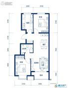 海岸国际2室2厅1卫88平方米户型图