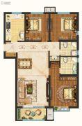 未来花郡3室2厅2卫124平方米户型图