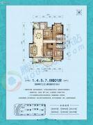 国厦云湾4室2厅3卫153平方米户型图