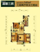 中联城3室2厅4卫141平方米户型图