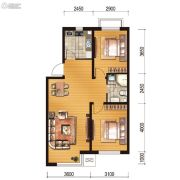 世百居・洪湖湾2室2厅1卫78平方米户型图