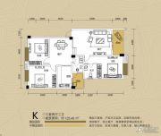 江都栋缤3室2厅2卫125平方米户型图