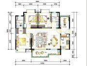 万科柏悦湾4室2厅2卫117平方米户型图
