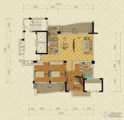 绿城蔚蓝公寓3室2厅2卫162平方米户型图