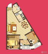 泰盈八千里2室2厅1卫67平方米户型图