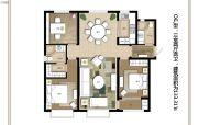 上海公馆旗舰版3室2厅2卫133平方米户型图