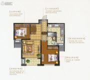 盛和花半里2室2厅1卫89平方米户型图