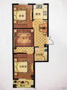 澳海澜庭(现房)2室2厅1卫85平方米户型图