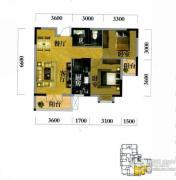 奥山世纪城2室2厅1卫81平方米户型图