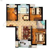 丽景湾华庭3室2厅1卫108平方米户型图