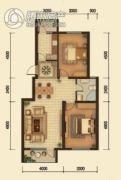 中鸿基名都2室2厅1卫92平方米户型图