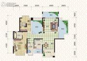天元翡翠国际2室2厅2卫141平方米户型图