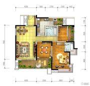宏创・龙湾半岛3室2厅2卫138平方米户型图