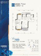 武汉中国健康谷3室2厅1卫116平方米户型图