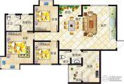 垠地中山城3室2厅2卫140--145平方米户型图