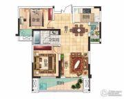 兴润・秋语台2室2厅1卫81平方米户型图