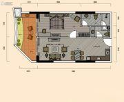 巽寮湾・幸福方舟1室2厅2卫82平方米户型图