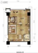 绿地城1室1厅1卫89平方米户型图