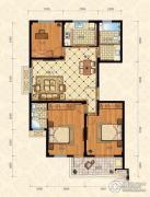城南春天3室2厅2卫117平方米户型图