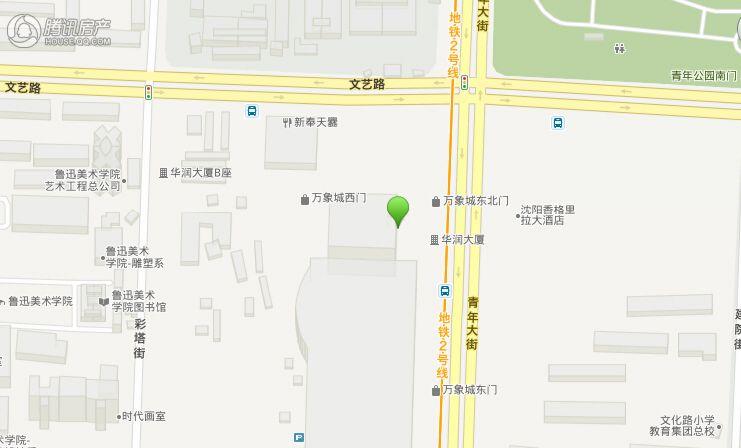 沈阳华润大厦交通图