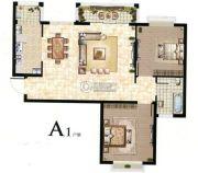 丽晶名邸2室2厅1卫86平方米户型图
