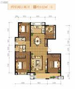融创天朗南长安街壹号4室2厅2卫142平方米户型图