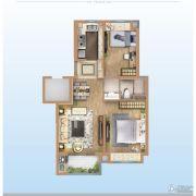 万科金域澜湾2室2厅1卫0平方米户型图