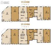 天山国宾壹�商业街105--143平方米户型图