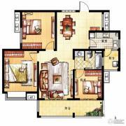 凤凰花园3室2厅1卫114平方米户型图
