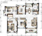 华发・又一城3期4室2厅2卫141平方米户型图