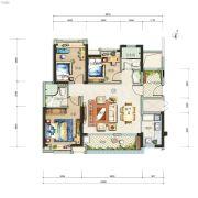 广州亚运城3室2厅2卫104平方米户型图