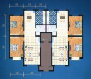 绿都花庭2室2厅1卫109平方米户型图