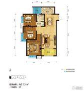 君河湾3室2厅1卫113平方米户型图