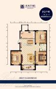 欣凤学城二期3室2厅1卫107平方米户型图