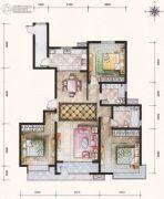 滨河果岭3室2厅2卫171平方米户型图