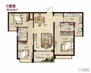 恒大名都3室2厅2卫120--125平方米户型图