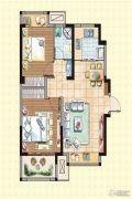 荣盛龙湖半岛2室2厅1卫74平方米户型图