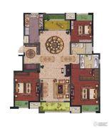 中富香缇半岛3室2厅2卫140平方米户型图