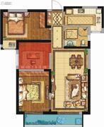 荣民宫园学府3室2厅1卫94平方米户型图