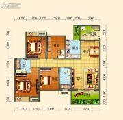 滨河壹号4室2厅2卫102平方米户型图