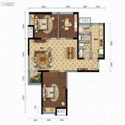 金沙星城3室2厅1卫111平方米户型图