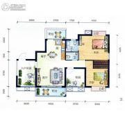 丽水南珠花园4室2厅2卫69平方米户型图