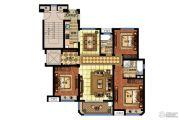 明发香山郡3室2厅2卫128平方米户型图