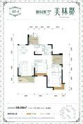 城南1号三期美林郡2室2厅1卫0平方米户型图