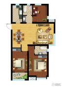中建锦绣�m庭3室2厅2卫120平方米户型图
