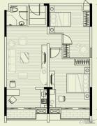 曦岛假日湾2室2厅1卫112平方米户型图