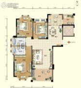航宇・香格里拉3室2厅2卫126平方米户型图