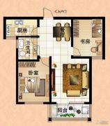 鼓浪屿小镇2室2厅1卫90平方米户型图
