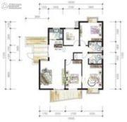 鸿运星城4室2厅2卫131平方米户型图