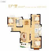 光明上海府邸3室2厅2卫112--116平方米户型图